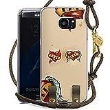 DeinDesign Samsung Galaxy S7 Edge Carry Case Hülle zum Umhängen Handyhülle mit Kette Amour Love Liebe