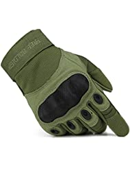 Libre Soldado al aire libre de dedo completo guantes de ciclismo caza Camping, Hombres Guantes, color Army Green, tamaño medium