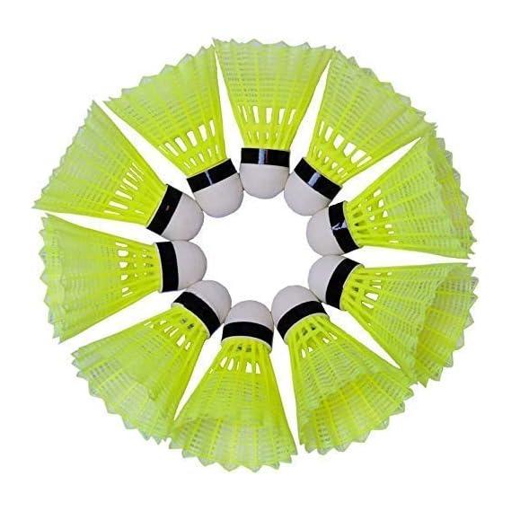 P&K Plastic Badminton Shuttlecock (Pack of 10)