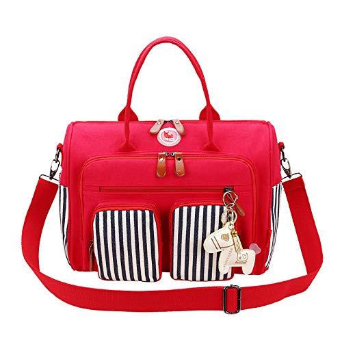 LFGCL Taschen womenMulti-Function Mumienbeutel Handschultertasche Baby aus der Muttertasche Großraummutter- und Babytasche, rot