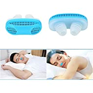 AZGEEK Nose Snore Stopping Anti Snore Relieve Snoring Breathing Apparatus Sleeping Mini Snoring Device Air Purifier Nasal Congestion for Travel, Sleeping, Office etcs (Blue)
