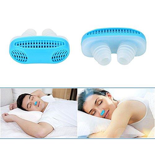 AZGEEK Nase Schnarcherstopper Anti Snore Relief Schnarchen Atemgerät Schlafen Mini Schnarchen Gerät Luftreiniger Verstopfte Nase für Reise, Schlafen, Büro (Blau) (Reise-schlaf-maschine)