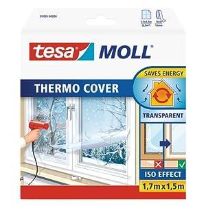 Tesa 05430 - Pellicola isolante per finestre, 1,7m:1,5m / 5er Pack, 1 519c4JHu2gL. SS300