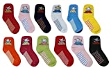 #3: ESELPRO BABY BOYS GIRLS COTTON ANKLE LENGTH SOCKS 2-4 YEARS(SET OF 12 PAIRS) ASSORTED DESIGNS