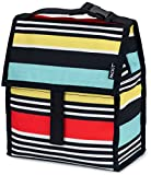 PackIt Freezable Lunch Bag with Zip Closure, Surf Stripe