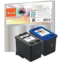 Peach PI300-402 cartucho de tinta - Cartucho de tinta para impresoras (Negro, Cian, Magenta, Amarillo, Alto, C9351AE, C9352AE, HP DeskJet 3920/3940/F380/F370/F2180/F2280/F4180/D1360/D2360/D2460, PSC 1410, Officejet J3680/4315/4, Inyección de tinta, Ampolla)