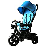 #5: Baybee Elantra 4 in 1 Trolly Cycle - Tricycle with Canopy and Parent Control (B)