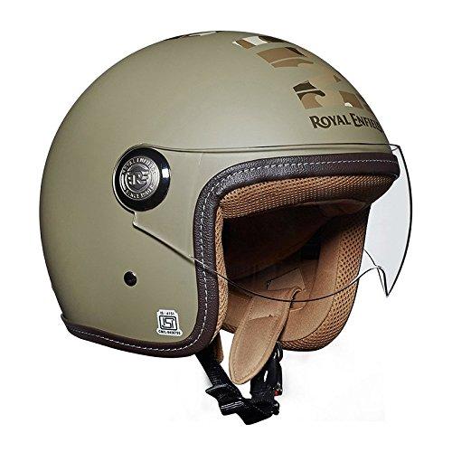 Royal Enfield RRGHEI000066 HES16014 Open Face Helmet (Desert Storm, M)
