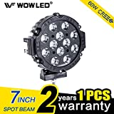 WOWLED 7 Inch 60W CREE LED Driving Light Spot Beam Work Lamp Offroad SUV 4WD 4X4 Truck Boat