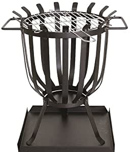 Hamble Redwood BB-CH711 Steel Patio Brazier with Barbecue Grill