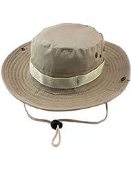 Unimango - Sombrero de ala ancha para senderismo, acampadas o viajes, con protección ultra-violeta y secado rápido, Light Khaki