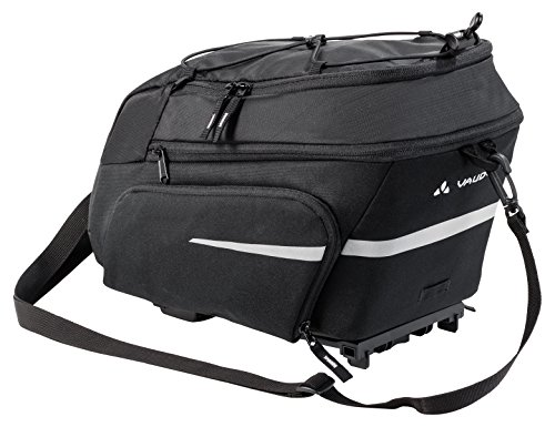Vaude Silkroad Plus (i-Rack) Radtaschen, Black, One Size (Rack-tasche)