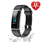 Letsfit Fitness Tracker HR, IP68 Waterproof Color Screen Activity Tracker With Heart Rate Monitor, Step Counter, Sleep Monitor, Pedometer Watch, Smart Band for Kids Women Men  Black
