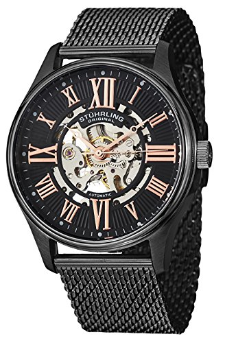 Stuhrling Original Men's 747M.03 Classic Atrium Elite Analog Display Automatic Self Wind Black Watch