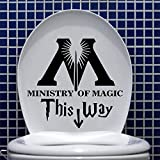 stickers muraux bebe elephant Art Design Ministère de la Magie Sticker mural salle de bains décor à la maison Toilette Decal DIY Drôle Parodie salle de repos Stickers Muraux