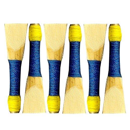 Tartan City New Scottish Highland Dudelsack Synthetik Kunststoff Practice Chanter mit Blätter Set 6Stück Blau
