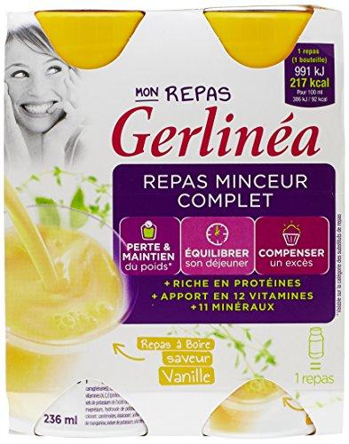 Gerlinéa Substituts de Repas à Boire goût Vanille 4 x 236 ml - Lot de 2