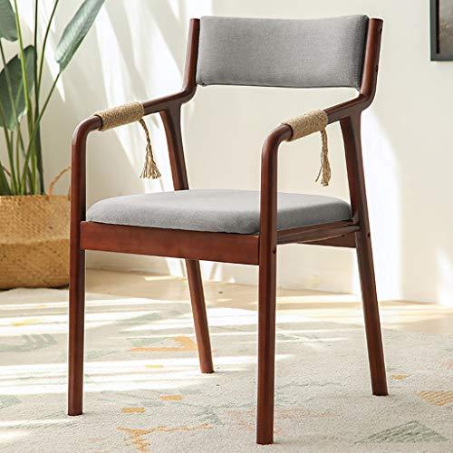 Chaises Surface en tissu élégant en bois massif Salle de réunion arrière respirante Chaise de réception Chaise d'ordinateur de bureau (5 couleurs en option) Taille: 46 * 62 * 83cm (Couleur : A)