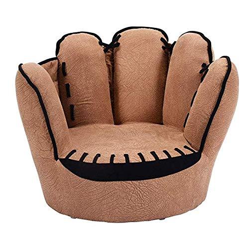 Softneco Baseball-handschuh geformte Sofa für Kinder, Gefüllte Schwamm armlehne Sofa Kinder Wohnzimmer Schlafzimmer Jungen möbel Loungesessel lesen-Finger 58 x 49 x 44cm