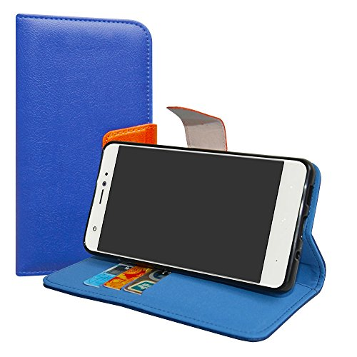 LiuShan BQ AQUARIS X/X PRO Hülle, Brieftasche Handyhülle Schutzhülle PU Leder mit Kartenfächer und Standfunktion für BQ AQUARIS X/BQ AQUARIS X PRO Smartphone,Deep Blue