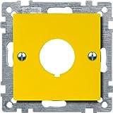 Merten 393903 Zentralplatte für Not-Ausschalter, gelb, System M