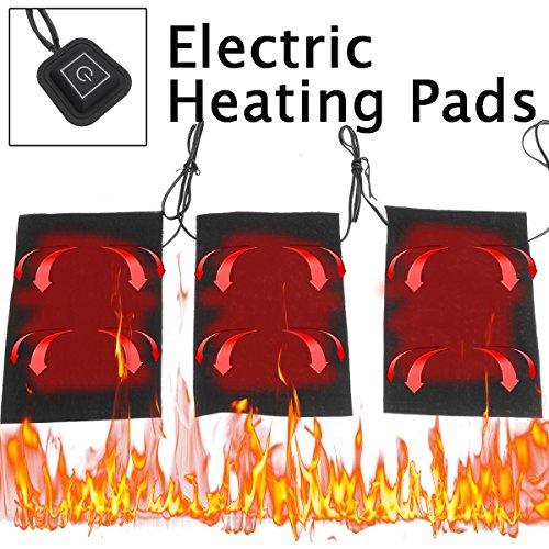 SAFETYON Heizung Pad 3pcs wärmepad elektrisch mit 3 Temperaturstufen, Heizmatte für Rücken Hals Arm und Tiere, Heating Pad mit USB Kabel