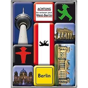 Nostalgic-Art 83011 Ampelmann Berlin, Magnet-Set, 9-teilig