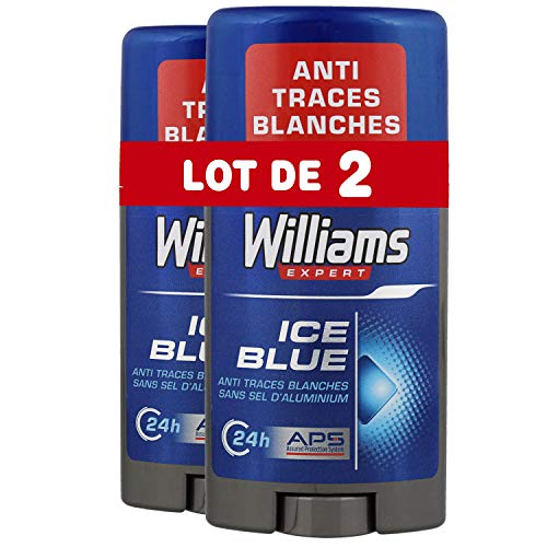 Williams Déodorant Stick Ice Blue 75ml - Lot de 2 Williams