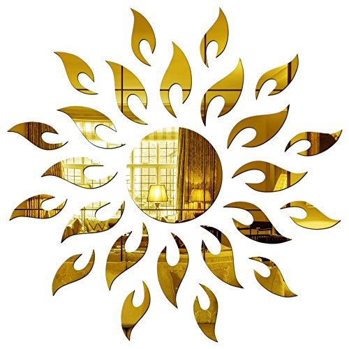 Sehaz Artworks Sun-Gold Wall Decal (Acrylic, 0.2 cm x 15.24 cm x...