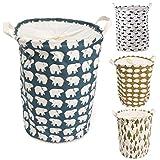 Sharplace Sharplace Faltbar Wäschekorb Wäschebox Wäschesammler mit Wäschesack aus Baumwolle, Auch als Spielzeug Tasche Speicherbeutel, Wasserdicht - Blau