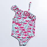zooarts Sommer Kids Mädchen Little Swan Bademode einem Stück Body Jumpsuit Badeanzug Badeanzug, multi, 36 (6-7Y)