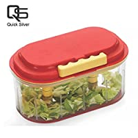 Quick Silver Fruit & Vegetable Big Chopper With 2 Chopping Blade in Multi Color