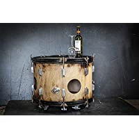 Up cycled Drum Side Table on Castor's. Drum Coffee table on Wheels. Drummer decor, Musician Gift Furniture, Up cycled Drum, with storage
