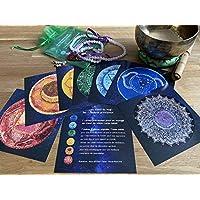 Les 7 chakras principaux. Lot 7 cartes de prestige