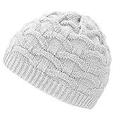 4sold Wave Damen Wurm Winter Wintermütze Style Beanie Mütze Wendemütze mit Fellbommel HAT SKI Snowboard (White)