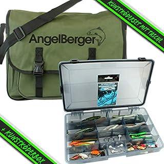 Angel-Berger Kunstködersortiment mit Tasche Raubfischset Barsch Hecht Zander