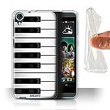 Coque Gel TPU de Stuff4 / Coque pour HTC Desire 820 / Piano Design / Clés/Boutons Collection