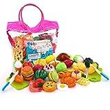 Scegli SONi Toys, facendo ogni giorno divertimento nuovo !!! Giocattoli Soni 32 PCS giocattoli da taglio giocattoli, regalo perfetto per i bambini.Bread, patatine, frutti di mare frutti di mare, verdure e fantasia.Quale altro potete guadagnar...