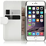 """iPhone 6 Hülle, JAMMYLIZARD Ledertasche Flip Cover für iPhone 6 und 6s 4.7"""", WEISS"""