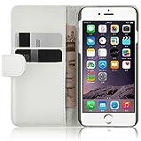 Housse iPhone 6 6s  Coque iPhone 6 6s | JAMMYLIZARD | Housse portefeuille Classique aspect cuir range cartes fermeture magnétique, Blanc