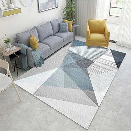JWANS Teppich für Wohnzimmer geometrisches Muster Schlafzimmer Sofa Couchtisch Home Bodenmatte Bereich Teppich