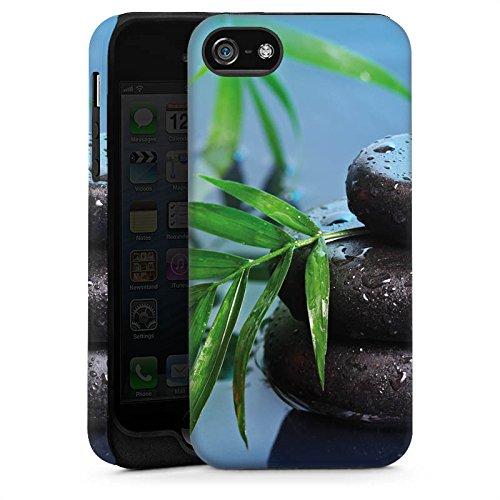 Apple iPhone 5s Housse étui coque protection Pierres zen Eau Water Cas Tough brillant