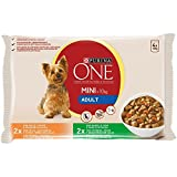 ONE MINI Perro  Adulto Pollo y Cordero en Salsa 4x100g [Pack de 10] - Total: 4 Kg