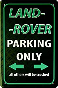 Deko7 Tin Sign 30 x 20 cm Land Rover Parking Only riffel o