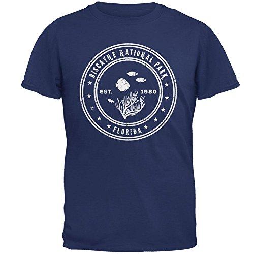 Biscayne Nationalpark-Herren-T-Shirt Pinwheel Blue
