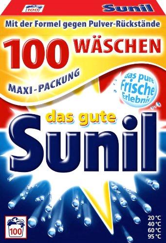 Die Sunil Waschmittel Pulver im Vergleich