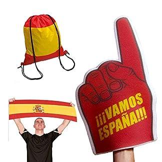 519cK1ujVIL. SS324  - Fun Fan Line® - Articulos con diseño Bandera de España. Ideal para Fiestas, Celebraciones y Eventos Deportivos.