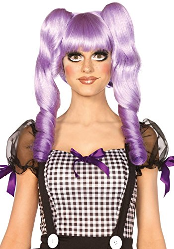 Leg Avenue A2732 - Dolly bob Perücke mit optional ringlet Clips - Einheitsgröße, Lavender (Fantasy-dolly)