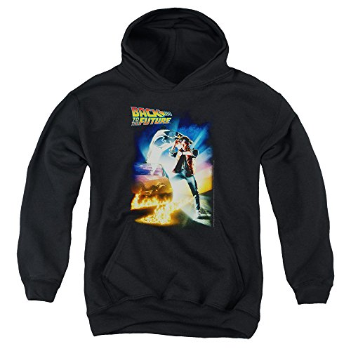 2Bhip Back To The Future Science Fiction Comedy Movie Poster Big Boys Pull-Over Hoodie