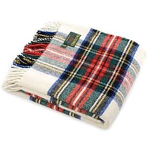519cL7F DgL. SS300  - Dress Stewart tartan British made wool picnic blanket travel rug